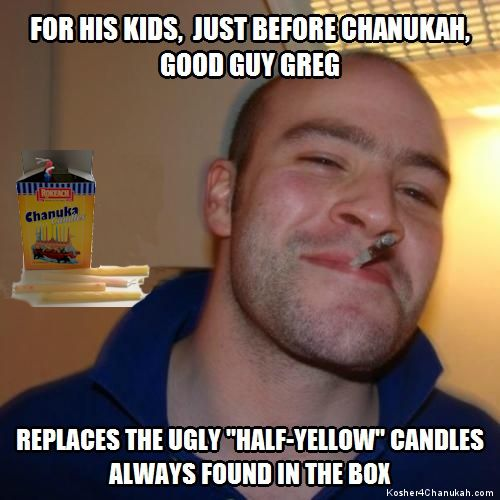 Hanukkah Meme - GGG replaces ugly candles